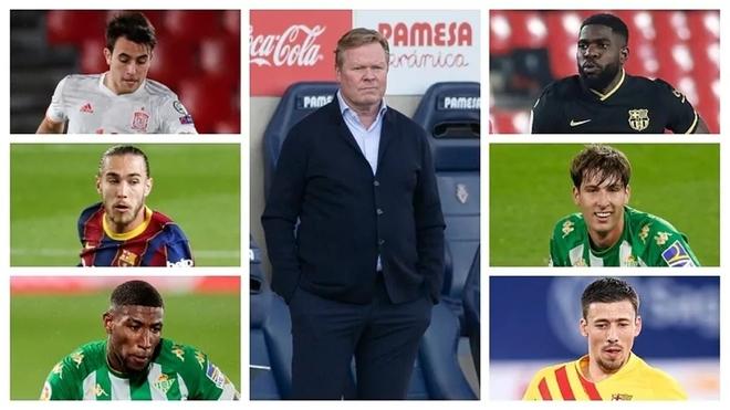 Los protagonista de la defensa: Eric García, Mingueza, Emerson,...