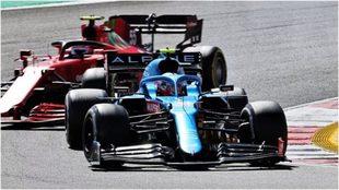 Ocon y Sainz, durante el pasado Gran Premio de Portugal.