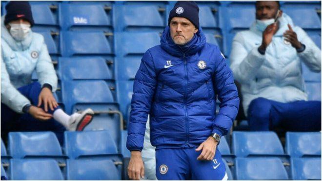 Tuchel, durante un partido del Chelsea.