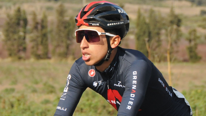 Egan Bernal, ciclista colombiano del Ineos.