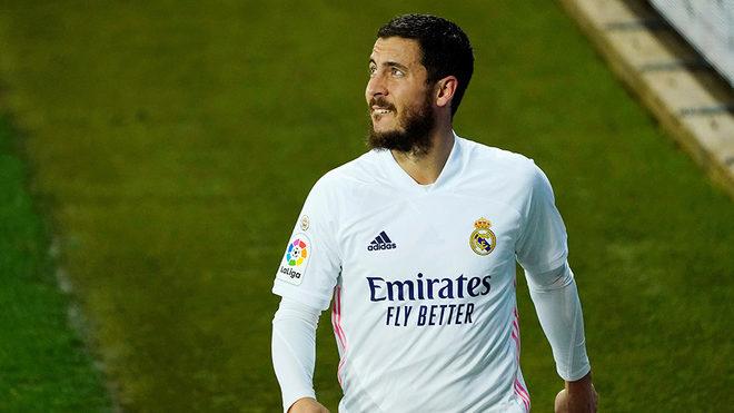 Hazard, tras ser sustituido en un partido con el Real Madrid