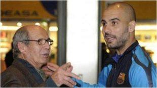 Valentí Guardiola junto a su hijo Pep