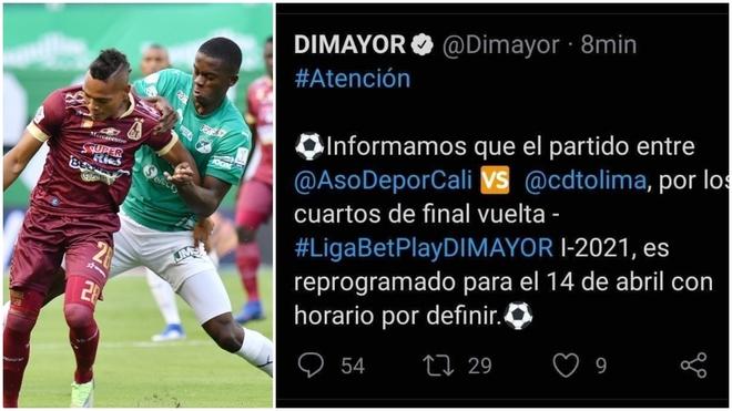 Error tremendo de la Dimayor para anunciar la fecha del partido...