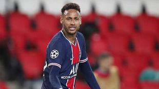 Neymar, durante un partido con el PSG