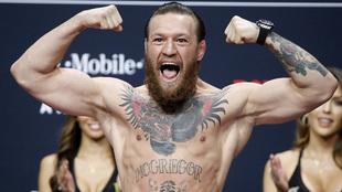 McGregor, durante la presentación de un combate