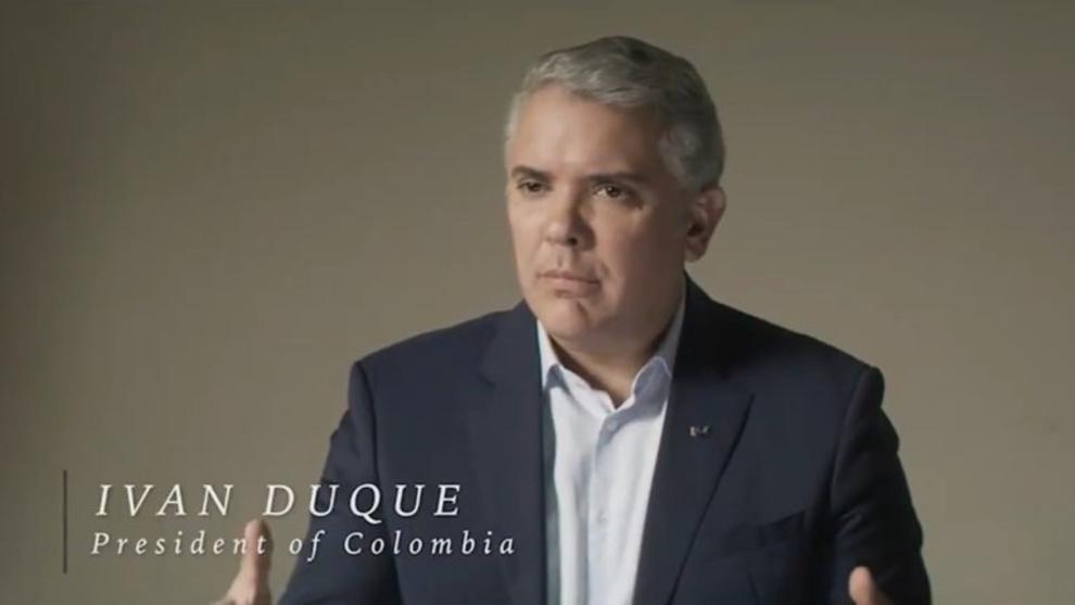 La entrevista de Iván Duque en inglés, realizada por el equipo de...