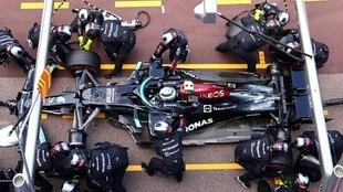 La rueda que causó el retiro de Bottas en Mónaco.