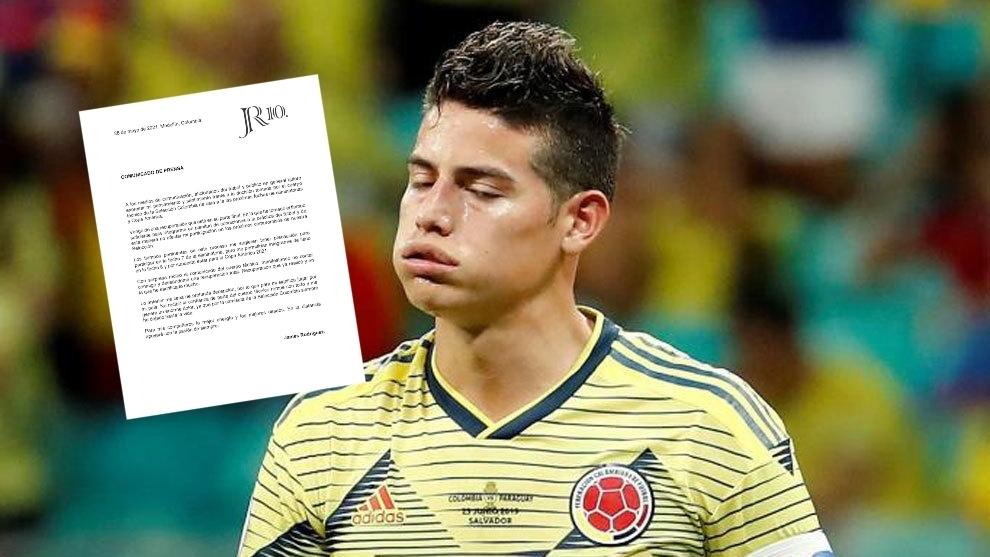 James Rodríguez desmiente que no esté en condiciones para jugar la...