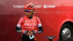 Nairo, durante la Vuelta a Asturias