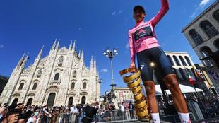 Egan Bernal, campeón del Giro de Italia 2021.