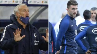 Deschamps y Laporte, vestidos con el uniforme de Francia.