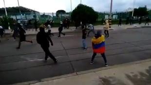 Protestas en las afueras del estadio para el Cali vs Tolima.
