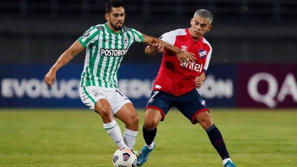 Andrés Andrade (32) durante un partido de la Copa Libertadores de la...