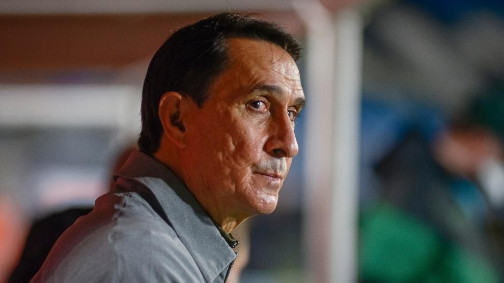 Alexandre Guimaraes, en un partido de Atlético Nacional.
