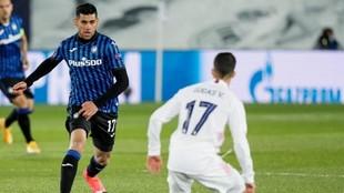 Cuti Romero (22) en el partido que endrentó a su equipo con el Real...