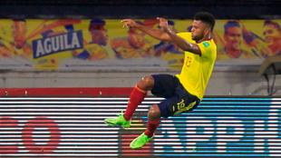 Borja celebra su gol al 94'.