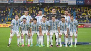 El once que presentó Argentina ante Colombia en Barranquilla