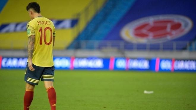 James, durante un partido con Colombia