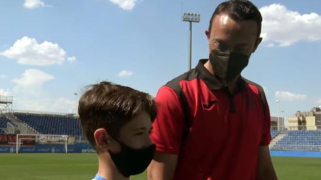 Miguel, entrenador del Alevín B del Fuenlabrada, pidió a Alejandro...