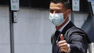 Cristiano Ronaldo, en la concentración de Portugal.