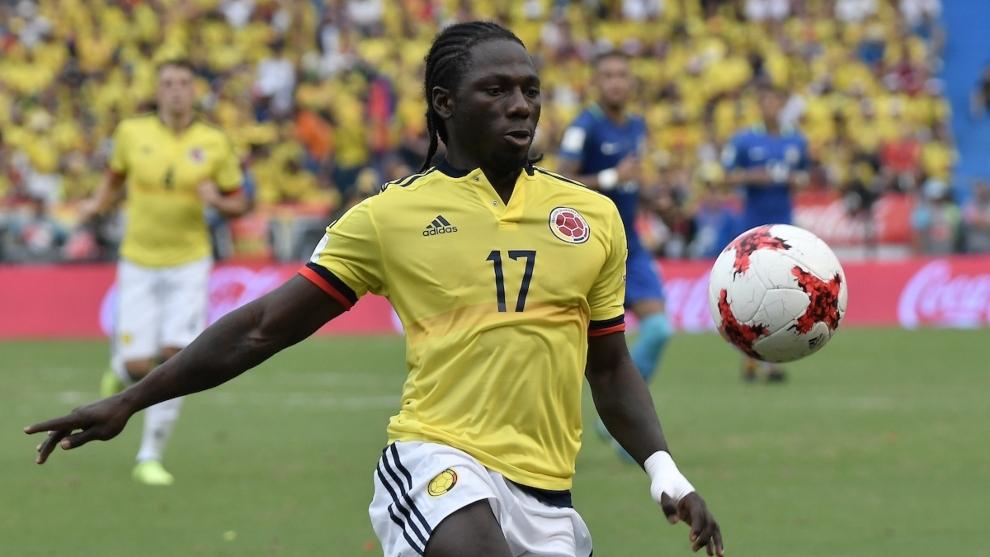 Yimmi Chará, en un partido de la Selección Colombia.