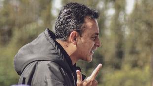 Jhon Mario Ramírez, en un entrenamiento de Patriotas.