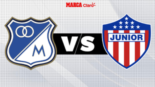 Millonarios vs Junior, en directo el fútbol colombiano.