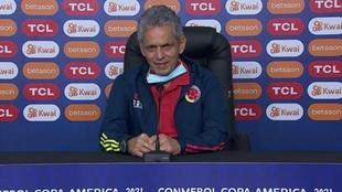 Reinaldo Rueda, en conferencia de prensa de la Copa América.