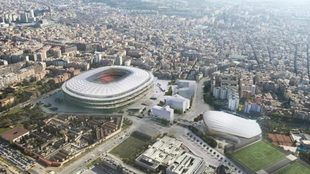 Imagen aérea de Montjuic, estadio en el que juega el Espanyol.