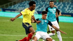 Juan Guillermo Cuadrado, en el partido contra Ecuador.