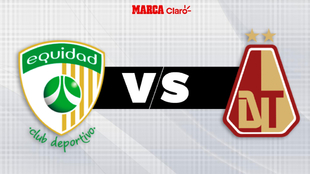 La Equidad vs Deportes Tolima; liga colombiana.