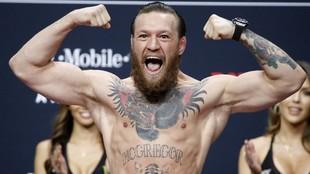 McGregor, durante la presentación de un combate.