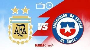 Argentina vs Chila: hora y donde ver el partido de la primera fecha de...