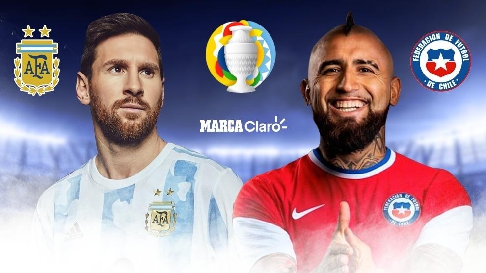 Copa América Hoy Argentina Vs Chile Resumen Y Goles Del Partido De La Copa América 2021 Marca Claro Colombia