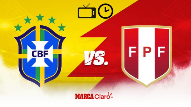 marcador brasil vs peru hoy