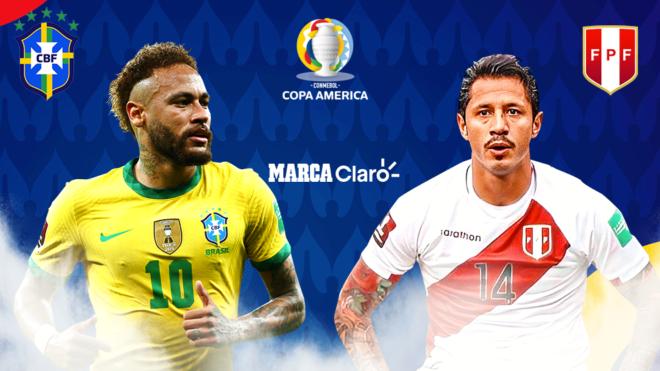 Brasil vs Perú: partido de Copa América, en vivo y en directo.