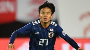Takefusa Kubo, durante un partido de Japón.