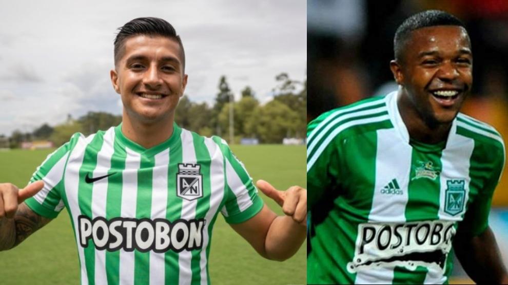 Yeison Guzmán, nuevo jugador de Nacional y Dorlan Pabón.