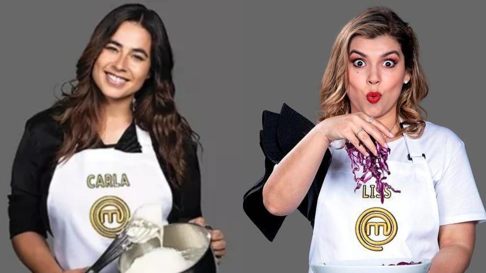 Carla Giraldo y Liss Pereira, concursantes de Masterchef.