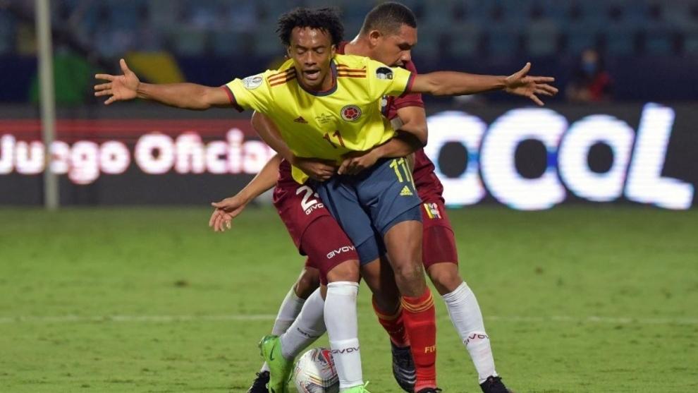 Cuadrado tomó las banderas de la Selección tras las ausencias de...