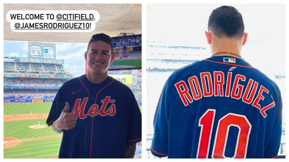 James Rodríguez en el City Field, de los New York Mets