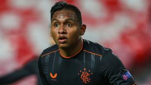 Alfredo Morelos, sorprendido en un encuentro con el Rangers.