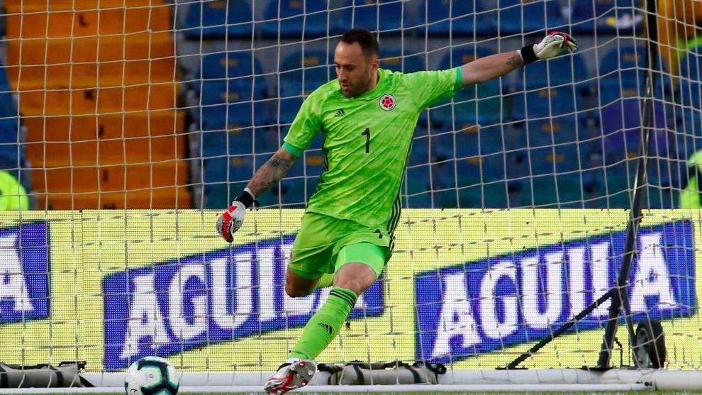 David Ospina (32) en el partido de cuartos de final de la Copa...