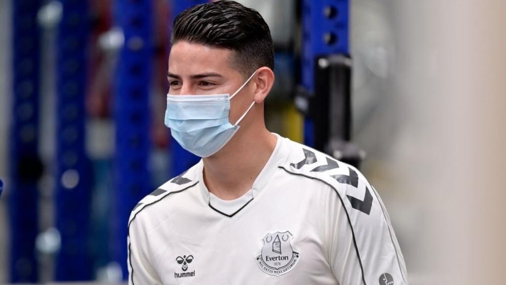 James Rodríguez pasó los exámenes médicos en el gimnasio del...