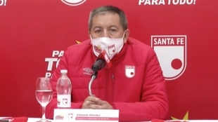 Eduardo Méndez, presidente de Independiente Santa Fe.