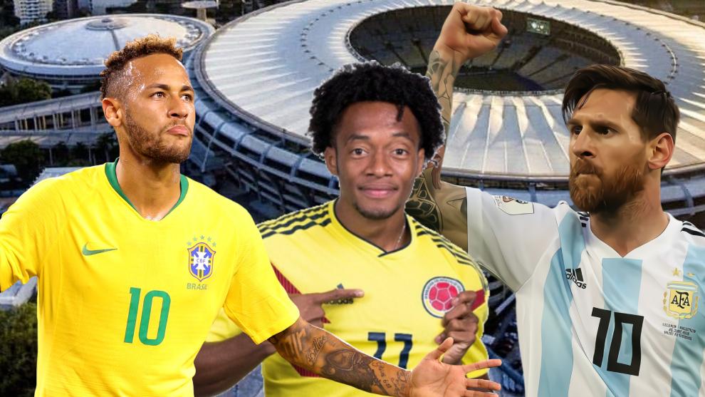Diseño de Neymar, Cuadrado y Messi.
