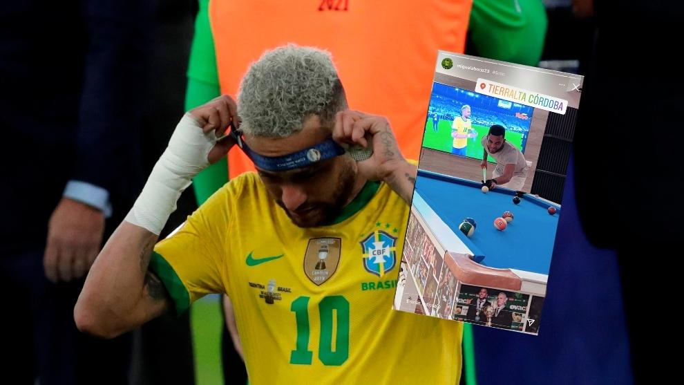 Neymar se saca la medalla tras perder la final.