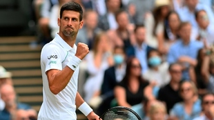 El festejo de Sergio tras sumar su Grand Slam 20.