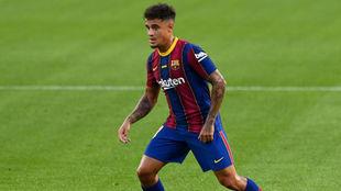 Coutinho, durante un partido con el Barcelona