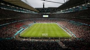 El Estadio de Wembley en Londres durante la final de la Eurocopa 2020.
